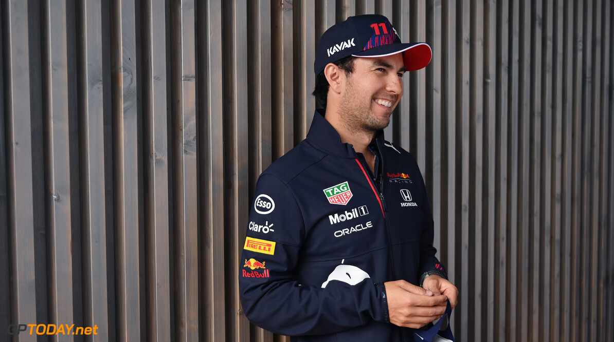 ZANDVOORT, NETHERLANDS - SEPTEMBER 02: Sergio Perez of Mexico and Red Bull Racing looks on in the Paddock during previews ahead of the F1 Grand Prix of The Netherlands at Circuit Zandvoort on September 02, 2021 in Zandvoort, Netherlands. (Photo by Dan Mullan/Getty Images) // Getty Images / Red Bull Content Pool  // SI202109020933 // Usage for editorial use only //  F1 Grand Prix of The Netherlands - Previews     SI202109020933