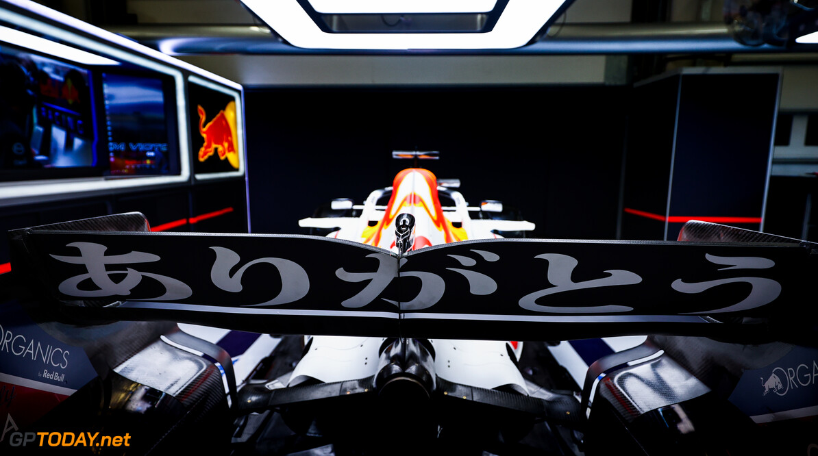ISTANBUL, TURKEY - OCTOBER 07: Reveal of the Red Bull Racing special Honda tribute livery ahead of the F1 Grand Prix of Turkey at Intercity Istanbul Park on October 07, 2021 in Istanbul, Turkey. (Photo by Mark Thompson/Getty Images) // Getty Images / Red Bull Content Pool  // SI202110070107 // Usage for editorial use only //  RBR Special Honda Livery     SI202110070107