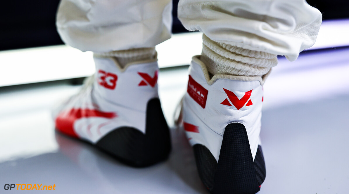 ISTANBUL, TURKEY - OCTOBER 09: A detail shot of the race boots of Max Verstappen of Netherlands and Red Bull Racing during final practice ahead of the F1 Grand Prix of Turkey at Intercity Istanbul Park on October 09, 2021 in Istanbul, Turkey. (Photo by Mark Thompson/Getty Images) // Getty Images / Red Bull Content Pool  // SI202110090117 // Usage for editorial use only //  F1 Grand Prix of Turkey - Final Practice     SI202110090117