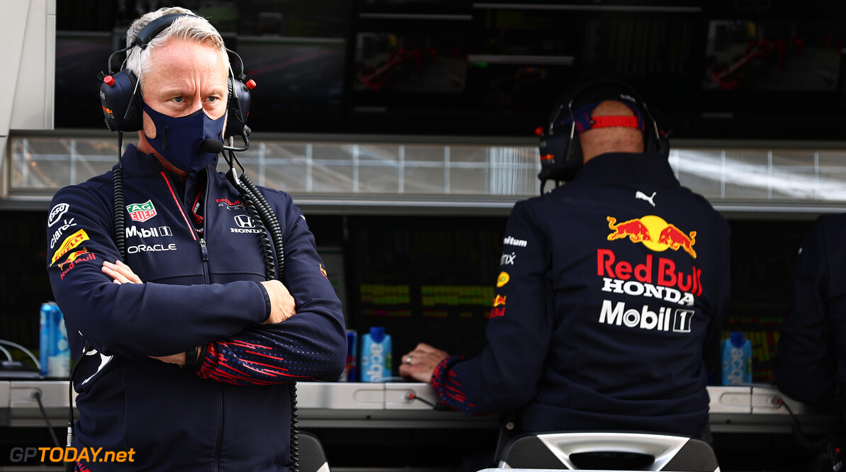ISTANBUL, TURKEY - OCTOBER 09: Red Bull Racing Team Manager Jonathan Wheatley looks on from the pitwall during qualifying ahead of the F1 Grand Prix of Turkey at Intercity Istanbul Park on October 09, 2021 in Istanbul, Turkey. (Photo by Mark Thompson/Getty Images) // Getty Images / Red Bull Content Pool  // SI202110090514 // Usage for editorial use only //  F1 Grand Prix of Turkey - Qualifying     SI202110090514