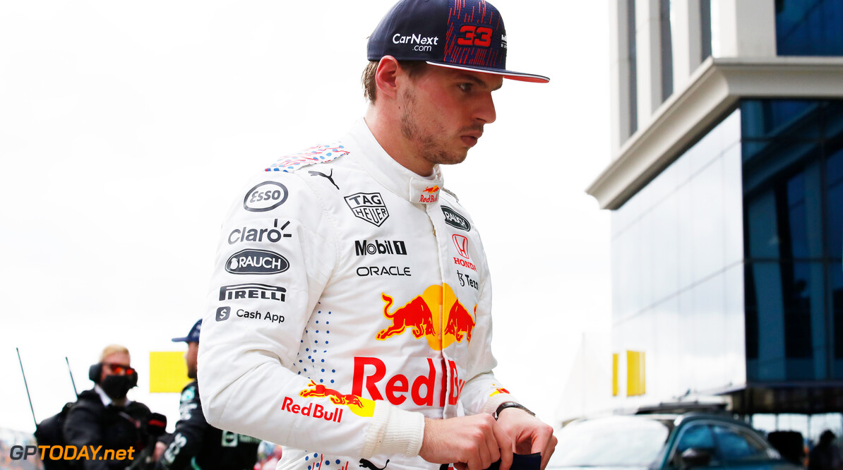 ISTANBUL, TURKEY - OCTOBER 09: Third place qualifier Max Verstappen of Netherlands and Red Bull Racing looks on in parc ferme during qualifying ahead of the F1 Grand Prix of Turkey at Intercity Istanbul Park on October 09, 2021 in Istanbul, Turkey. (Photo by Umit Bektas - Pool/Getty Images) // Getty Images / Red Bull Content Pool  // SI202110090453 // Usage for editorial use only //  F1 Grand Prix of Turkey - Qualifying     SI202110090453