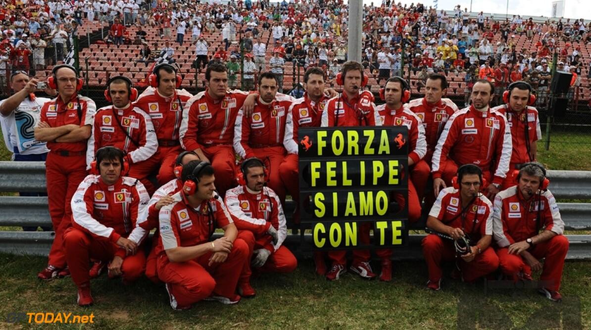 Ferrari sluit terugkeer Felipe Massa in 2009 niet uit
