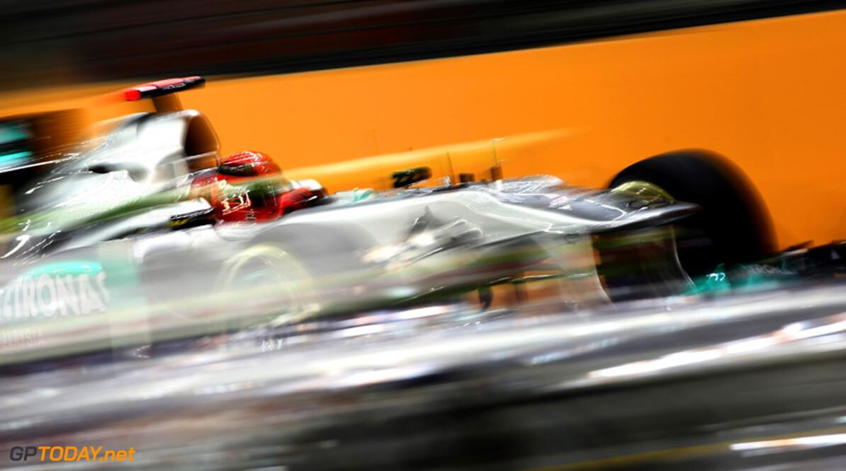 Michael Schumacher beboet voor te laat de pits induiken