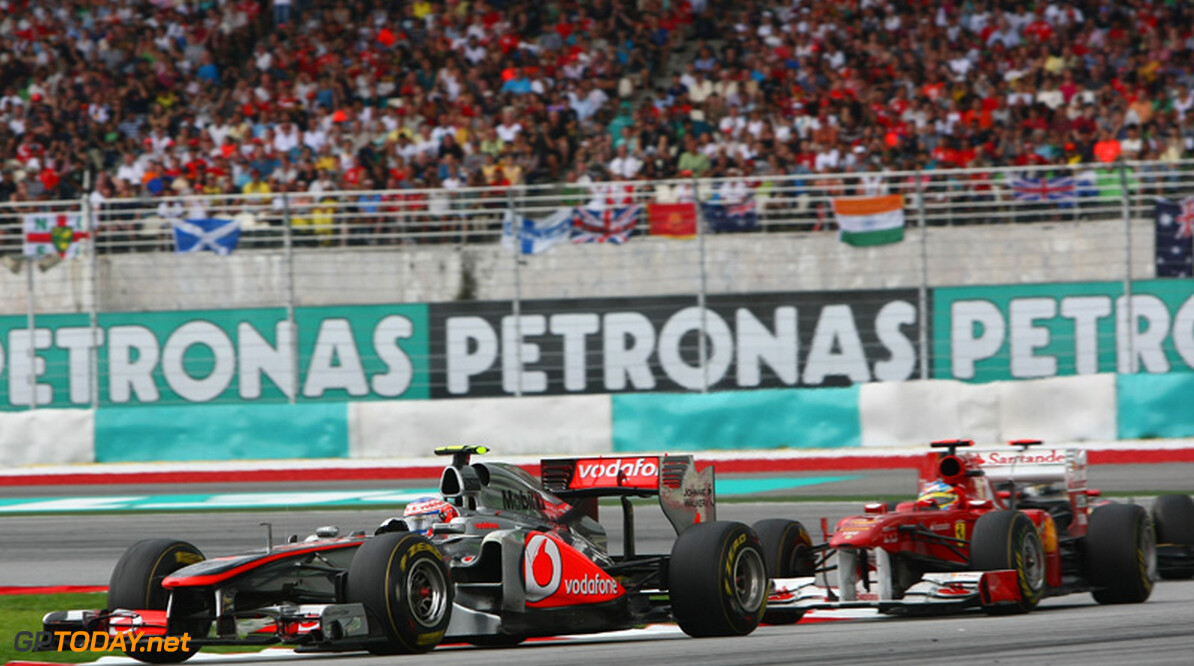 2011 Malaysian Grand Prix - Sunday Sepang, Kuala Lumpur, Malaysia 10th April 2011 Jenson Button (GBR), McLaren Mercedes, MP4-26 World Copyright: Andrew Hone / Formula Press / LAT Photographic