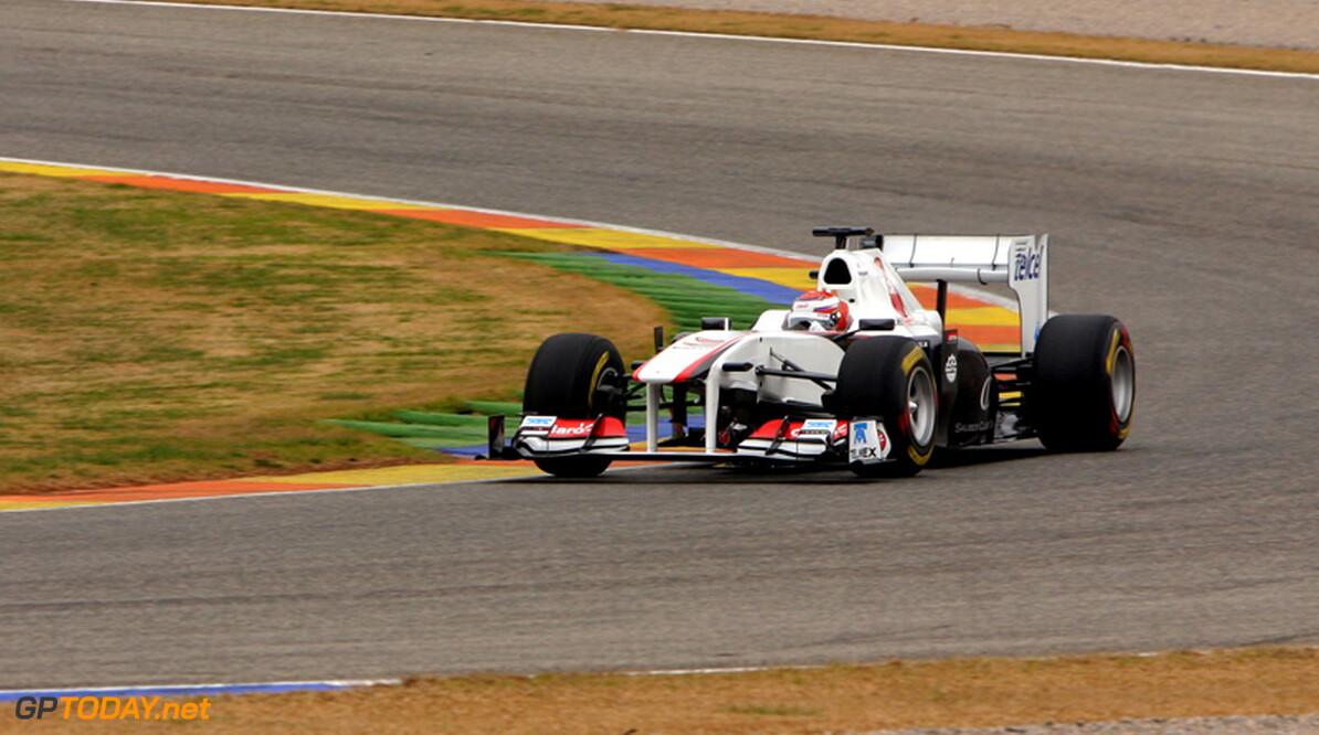 Eerste foto's shakedown Sauber C30