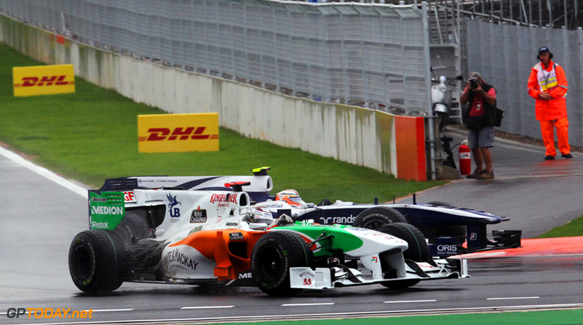 "Adrian Sutil valt af in Q1: ""Banden werkten niet goed"""