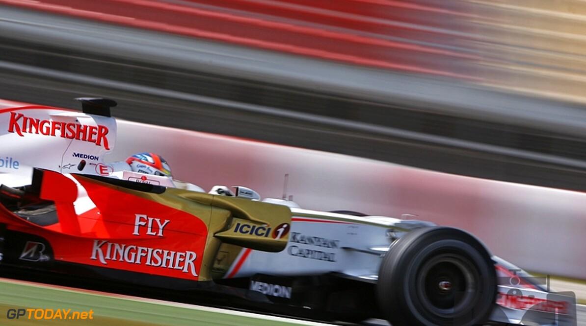 Force India test in Barcelona nog met Ferrari-motoren