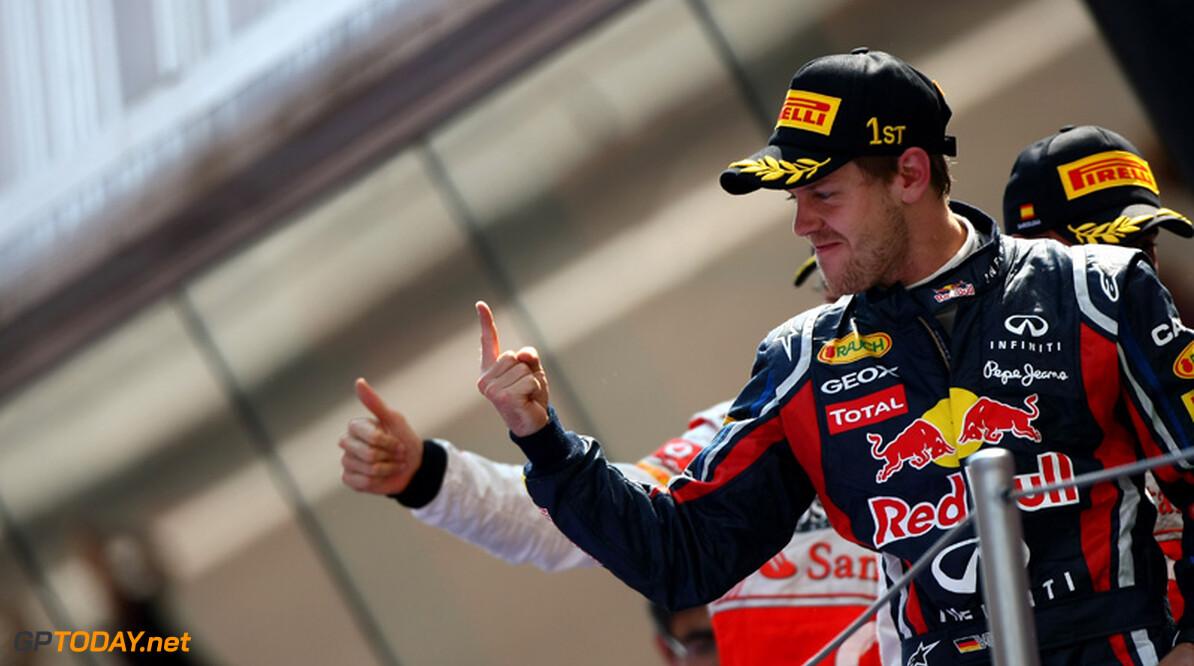 Sebastian Vettel wint spannende Grand Prix van Spanje