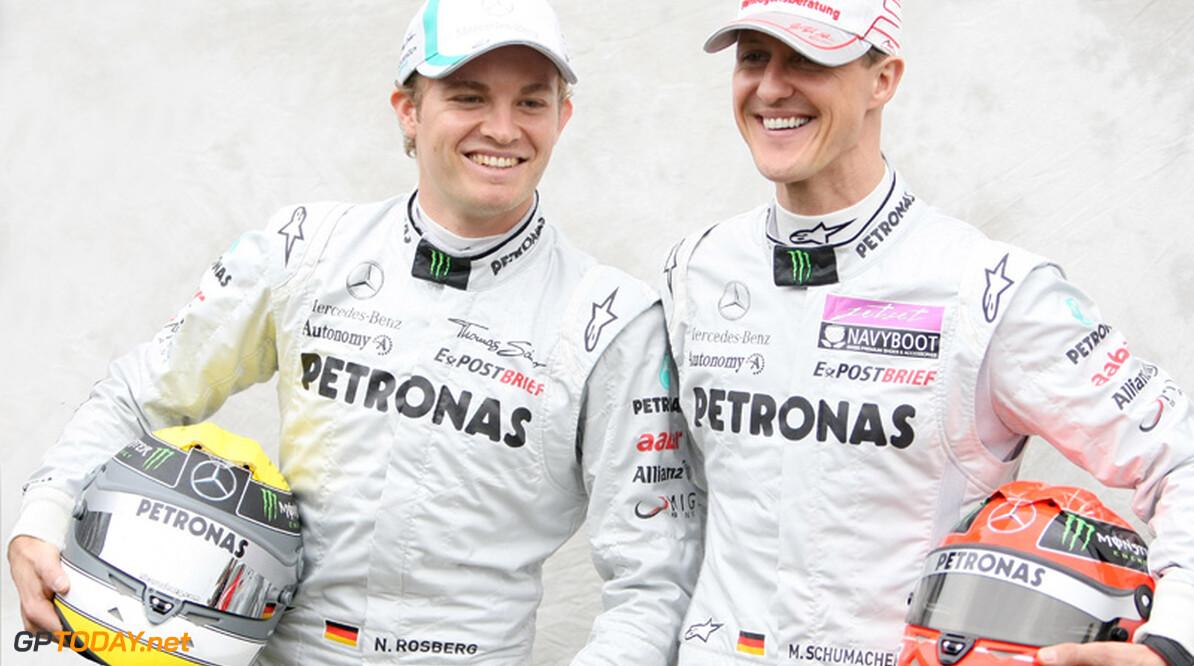 Mercedes GP in 2012 zo goed als zeker met Schumacher en Rosberg
