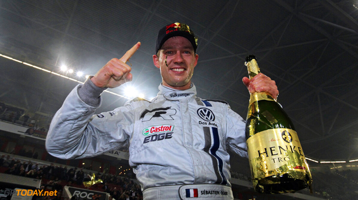 Title defender Ogier partners Grosjean for Race of Champions