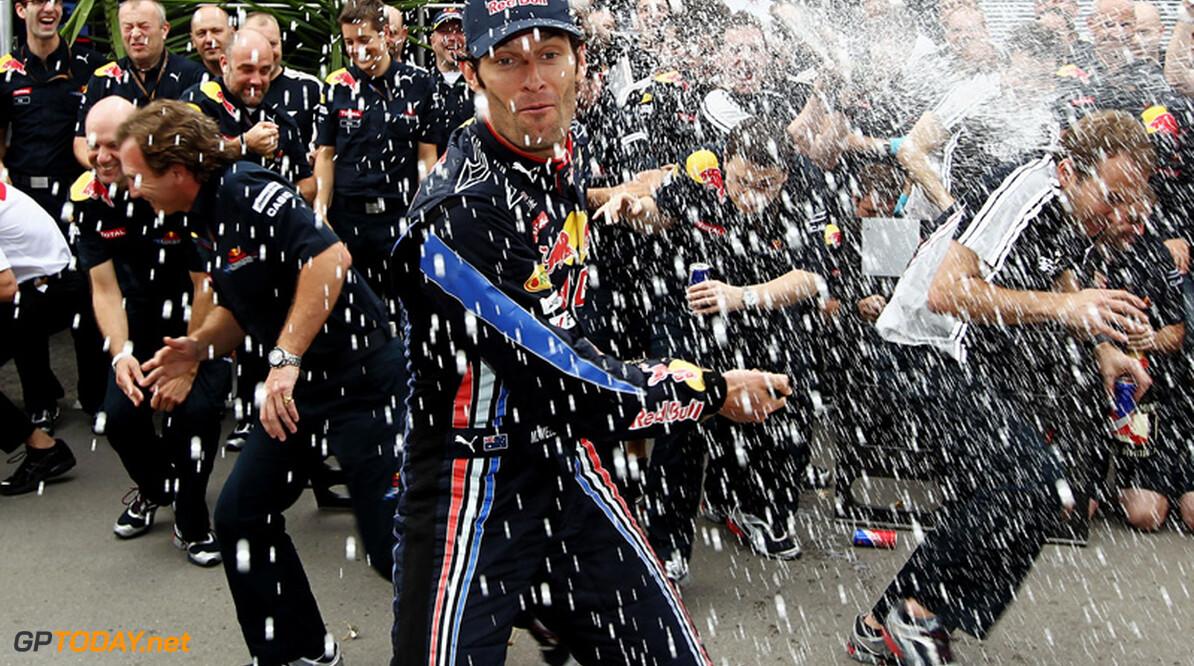 Mark Webber wint Spaanse Grand Prix
