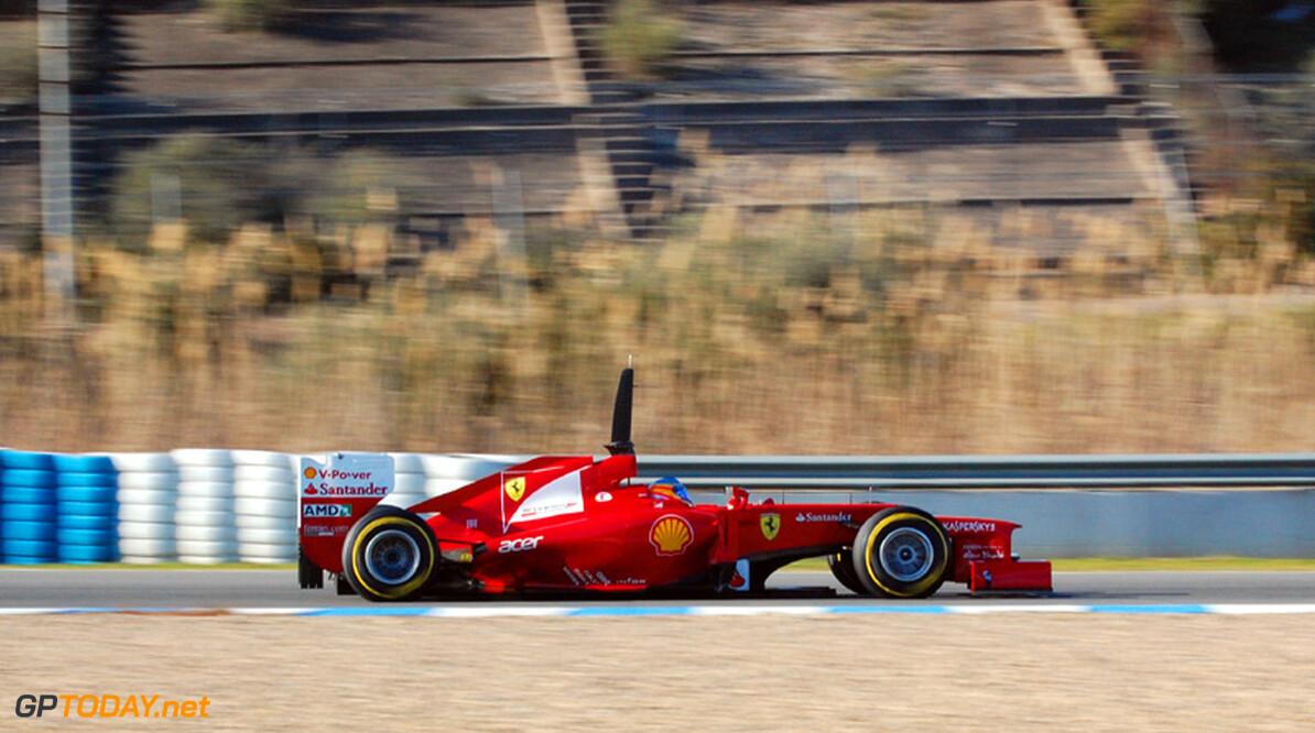 Alonso rekent op betere Ferrari F2012 bij tests in Barcelona