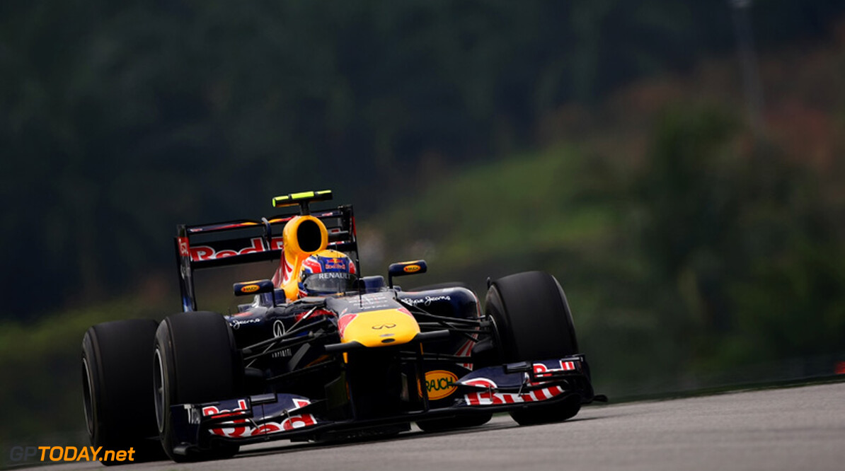 2011 Malaysian Grand Prix - Saturday Sepang, Kuala Lumpur, Malaysia 9th April 2011 Mark Webber (AUS), Red Bull Racing, RB7 World Copyright: Andrew Hone / Formula Press / LAT Photographic