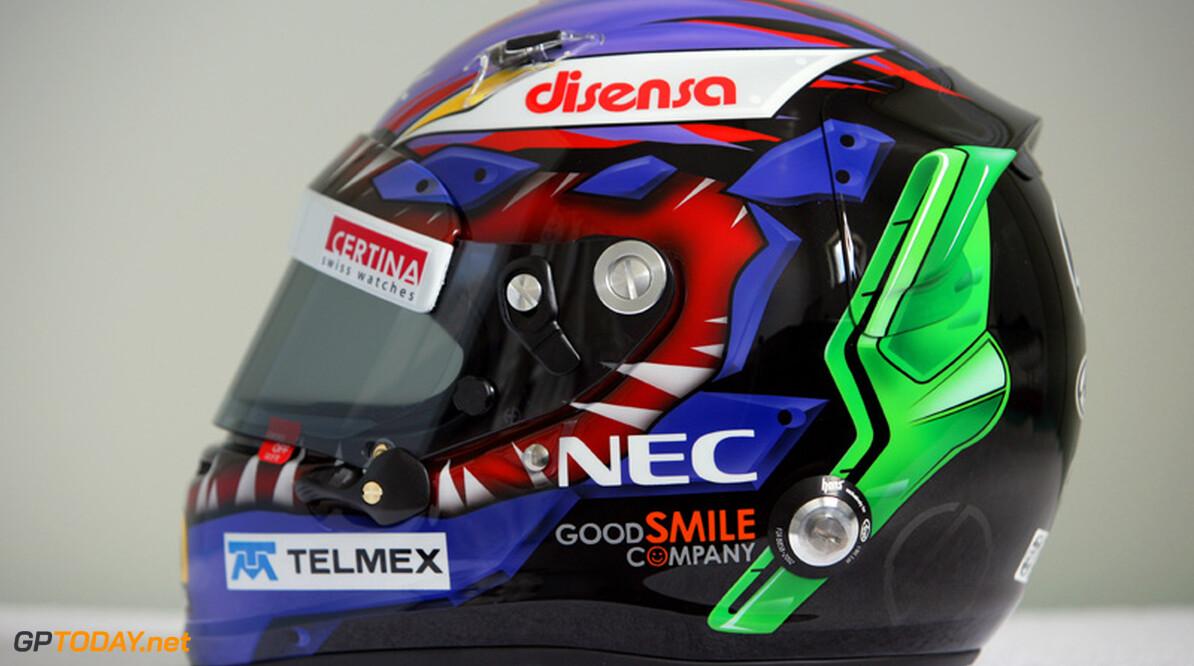 Kobayashi rijdt in Brazilië met door Linkin Park ontworpen helm