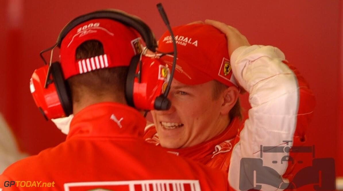 Raikkonen en Schumacher ontlopen elkaar bij test in Jerez