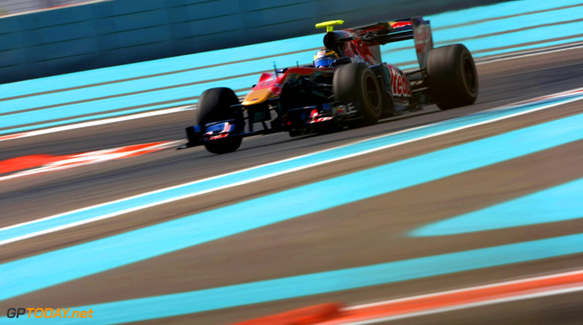 ABU DHABI, UNITED ARAB EMIRATES - NOVEMBER 16:  Jean-Eric Vergne of France and Scuderia Toro Rosso in action during the Young Driver Testing at the Yas Marina Circuit on November 16, 2010 in Abu Dhabi, United Arab Emirates.  (Photo by Andrew Hone/Andrew Hone/Getty Images)  Andrew Hone