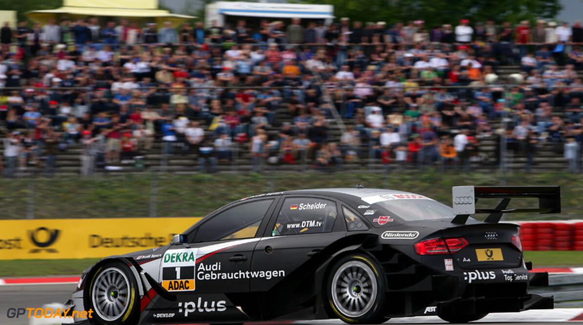 Timo Scheider op pole position na natte kwalificatie