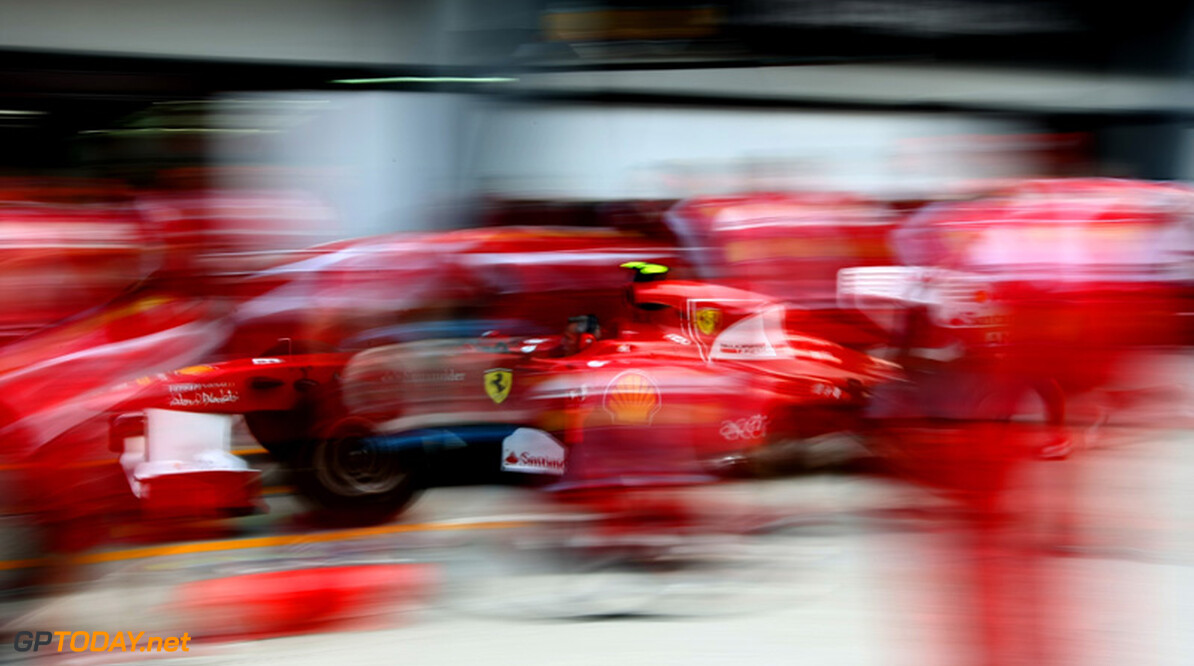 2011 Malaysian Grand Prix - Friday Sepang, Kuala Lumpur, Malaysia 8th April 2011 Scuderia Ferrari, Pitstop practice World Copyright: Andrew Hone / Formula Press / LAT Photographic