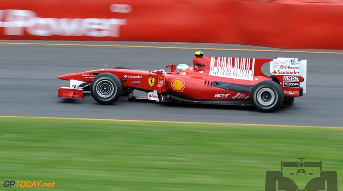 Ferrari past livery aan van F10 en verwijdert barcode