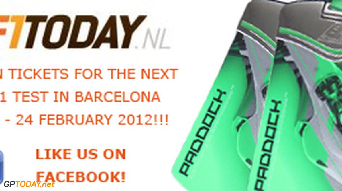 <b>Win tickets voor de Formule 1-test in Barcelona</b>