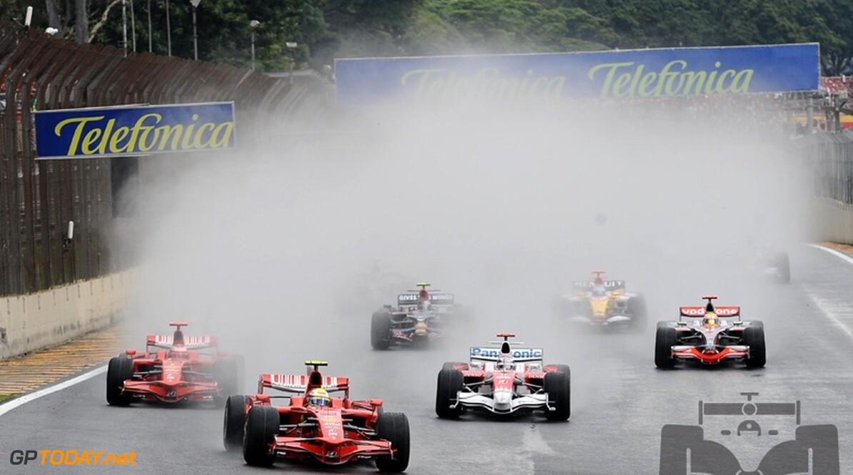 Weerupdate Interlagos: Regen komt met bakken uit de hemel
