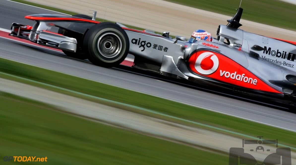 """Button: """"Kracht van McLaren is het doorontwikkelen van de auto"""""""