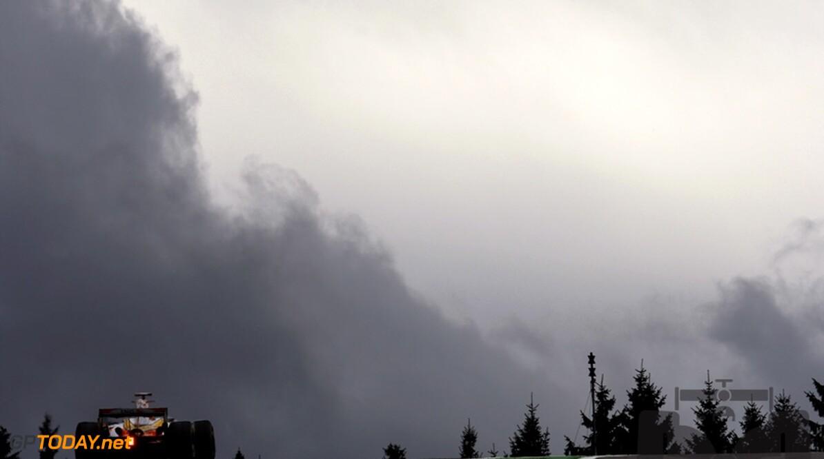 Hevige regen in Spa-Francorchamps