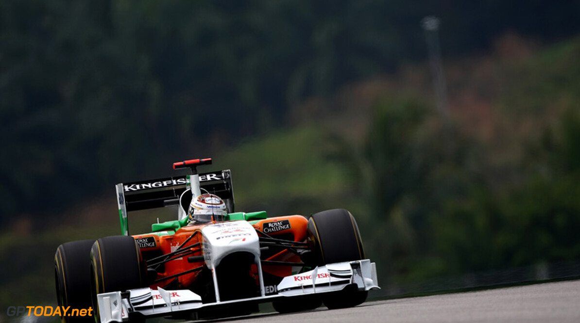2011 Malaysian Grand Prix - Saturday Sepang, Kuala Lumpur, Malaysia 9th April 2011 Adrian Sutil (GER), Force India F1 Team, VJM-04 World Copyright: Andrew Hone / Formula Press / LAT Photographic