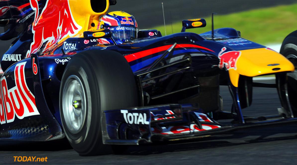 VT2: Webber sluit eerste dag in Zuid-Korea als snelste af
