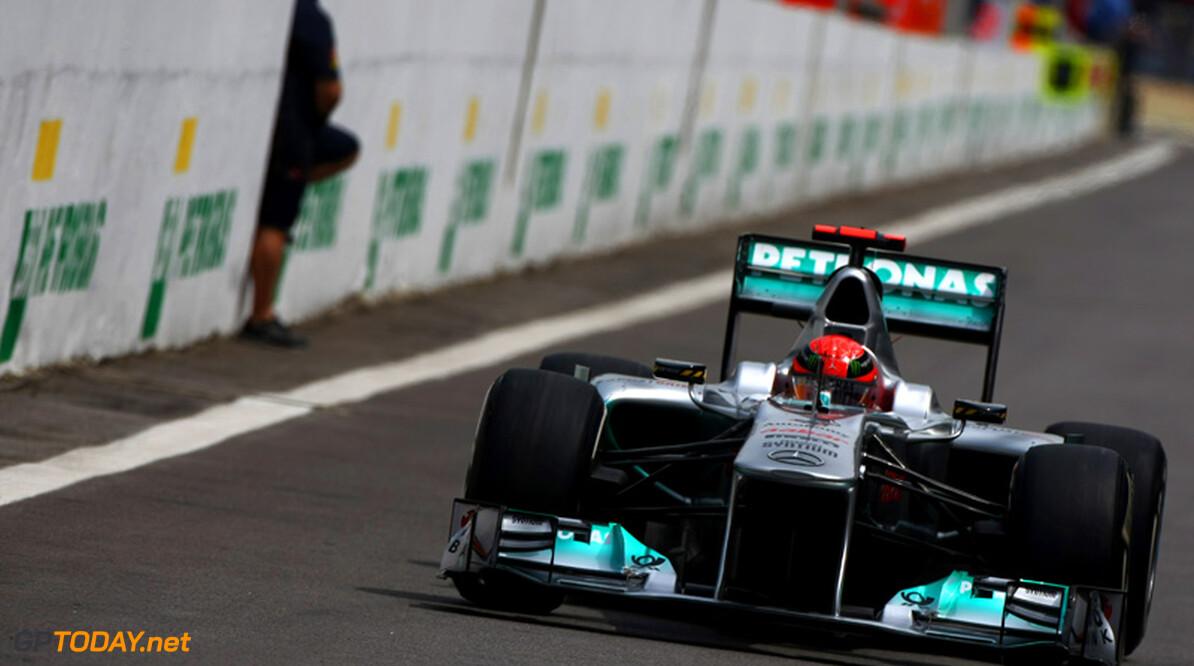 Michael Schumacher ondervindt nog altijd hinder van testrestricties