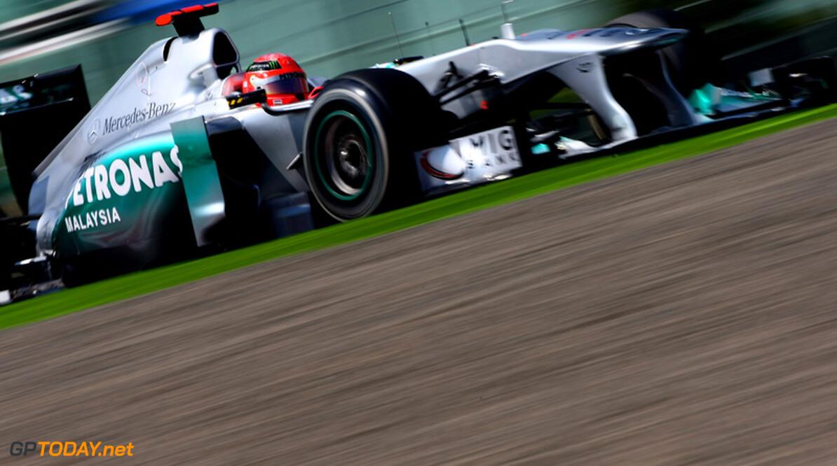 """Schumacher: """"Duel met Rosberg telt pas als we vooraan strijden"""""""