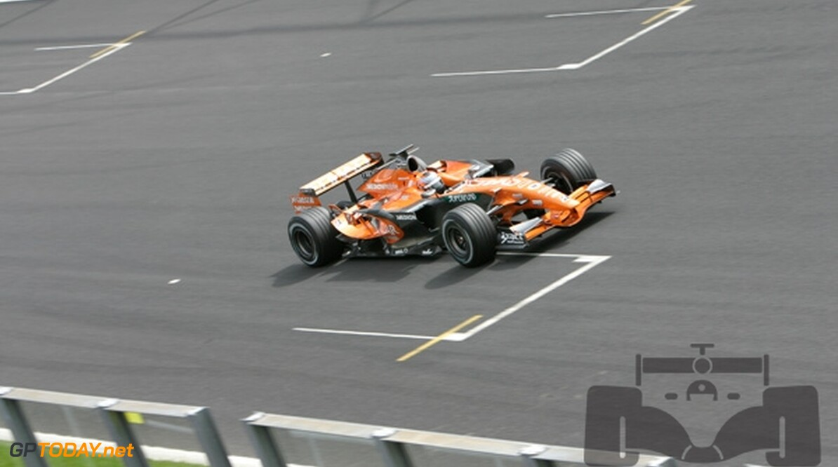 Spyker heet in 2008 Force India F1