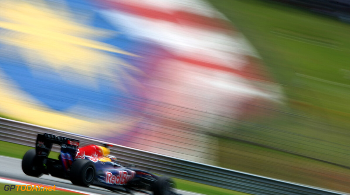2011 Malaysian Grand Prix - Saturday Sepang, Kuala Lumpur, Malaysia 9th April 2011 Sebastian Vettel (GER), Red Bull Racing, RB7 World Copyright: Andrew Hone / Formula Press / LAT Photographic