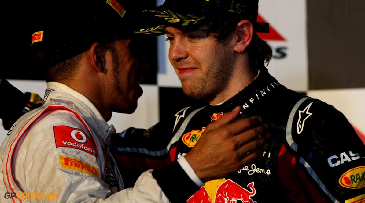 Lewis Hamilton in beeld bij Red Bull Racing voor 2012