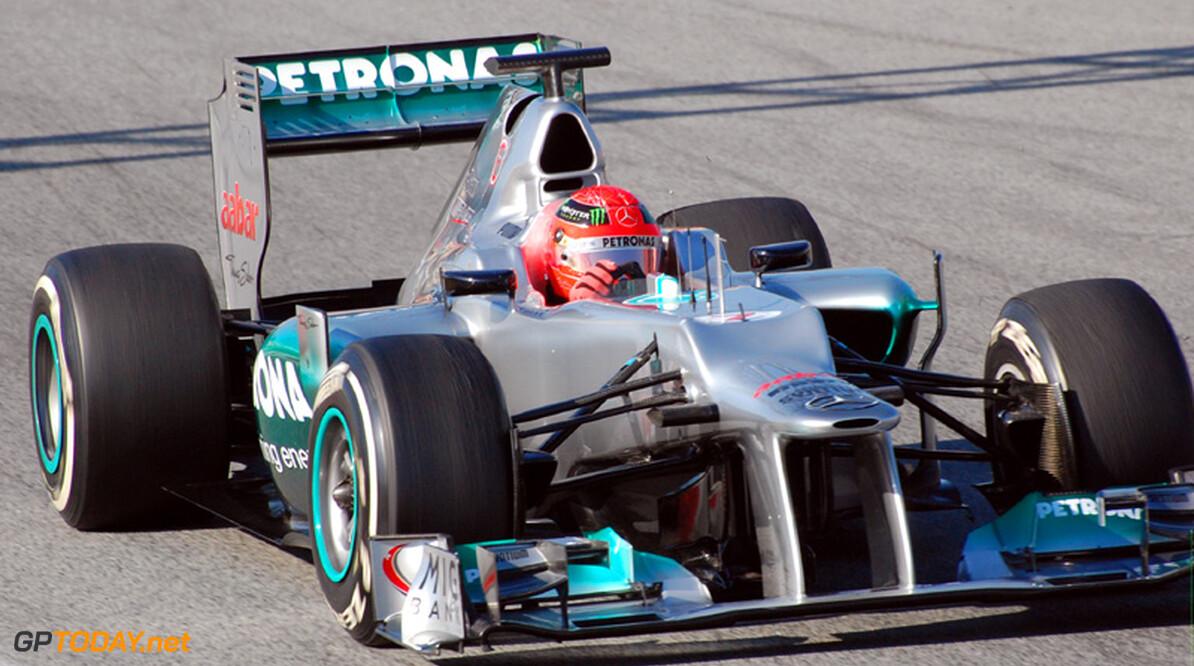 """Schumacher na eerste testdag met W03: """"Potentie is goed"""""""
