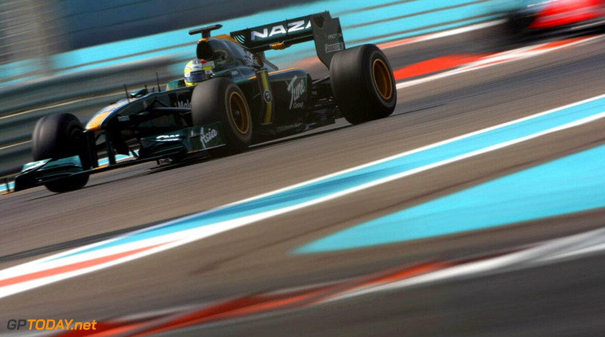 ABU DHABI, UNITED ARAB EMIRATES - NOVEMBER 16: Rodolfo Gonzalez of Venezuala and Lotus F1 Team in action during the Young Driver Testing at the Yas Marina Circuit on November 16, 2010 in Abu Dhabi, United Arab Emirates. (Photo by Andrew Hone/Getty Images)   Andrew Hone