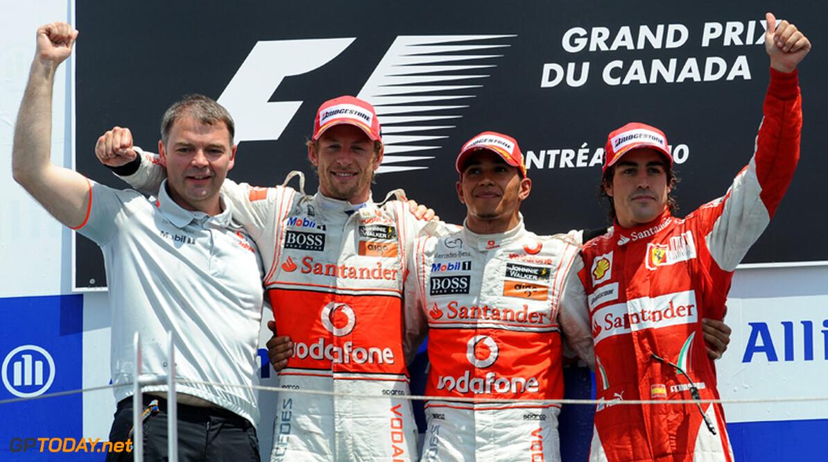Lewis Hamilton leidt McLaren-dubbel in Montreal