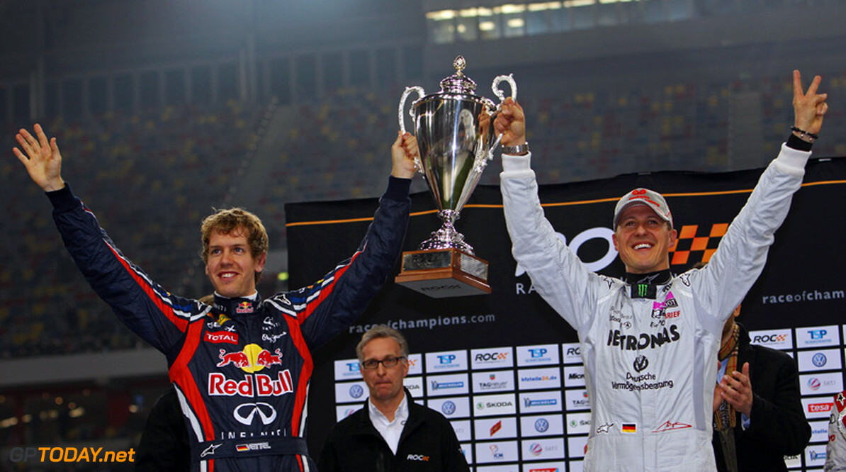 Vettel miste 'goede vriend' Schumacher bij RoC