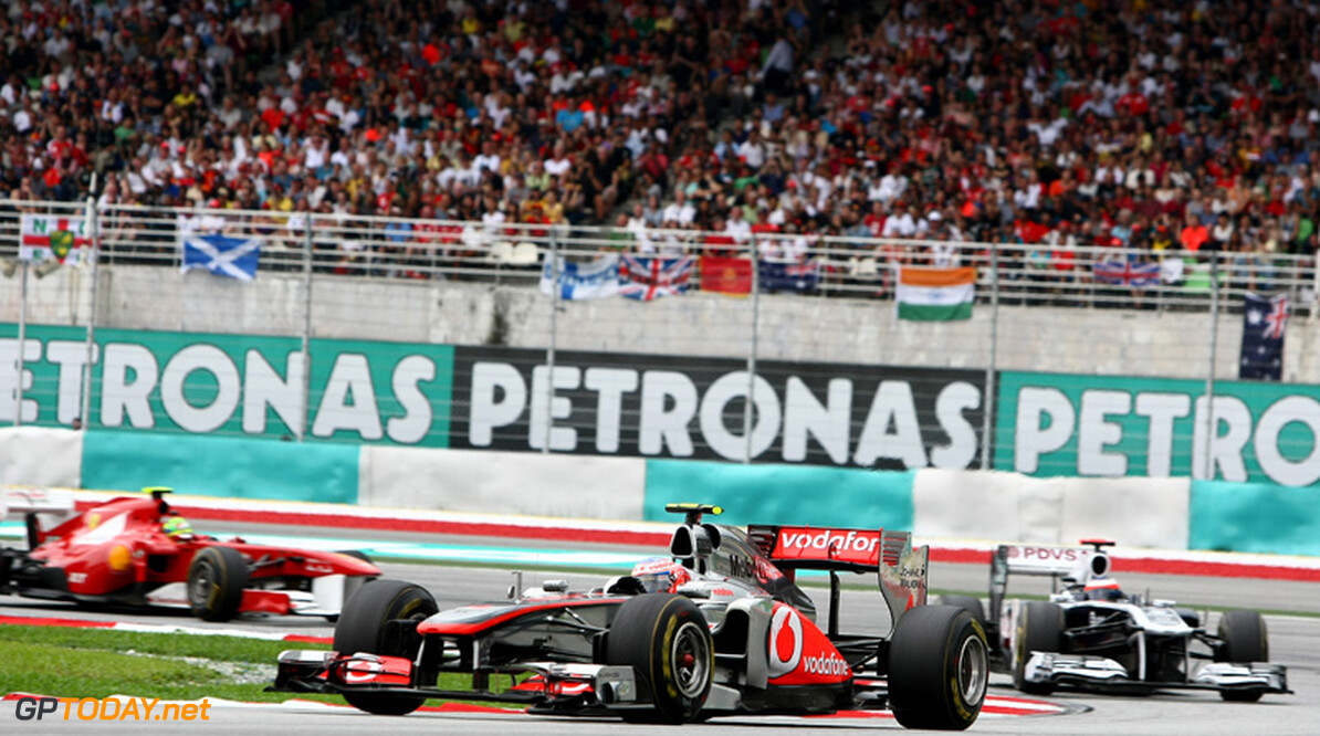 2011 Malaysian Grand Prix - Sunday Sepang, Kuala Lumpur, Malaysia 10th April 2011 Jenson Button (GBR), McLaren Mercedes World Copyright: Andrew Hone / Formula Press / LAT Photographic