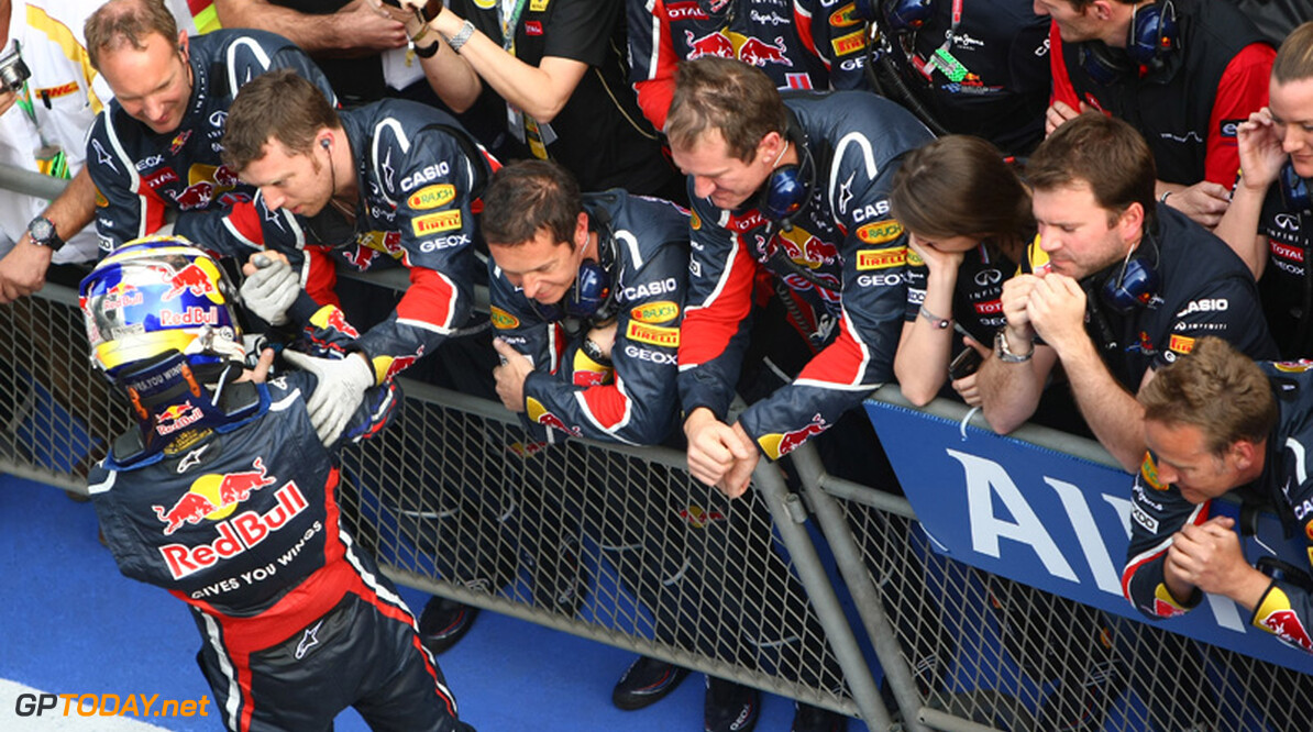 2011 Chinese Grand Prix - Sunday Shanghai International Circuit, Shanghai, China 17th April 2011 Sebastian Vettel (GER), Red Bull Racing World Copyright: Andrew Hone / Formula Press / LAT Photographic