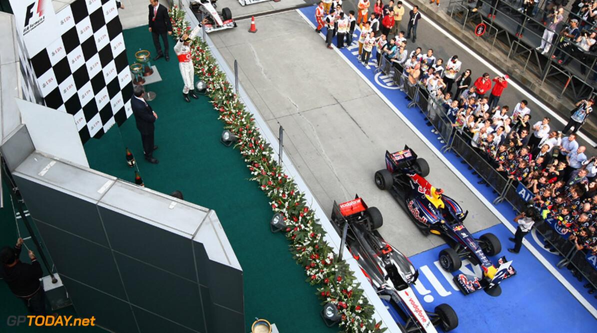 2011 Chinese Grand Prix - Sunday Shanghai International Circuit, Shanghai, China 17th April 2011 Winner, 1st, Lewis Hamilton (GBR), McLaren Mercedes  World Copyright: Andrew Hone / Formula Press / LAT Photographic