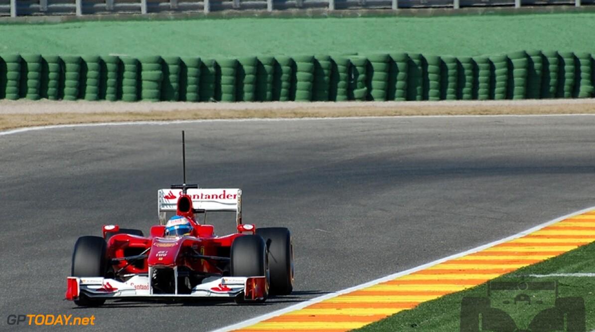 Valencia dag 3: Opnieuw Ferrari, dit keer Alonso