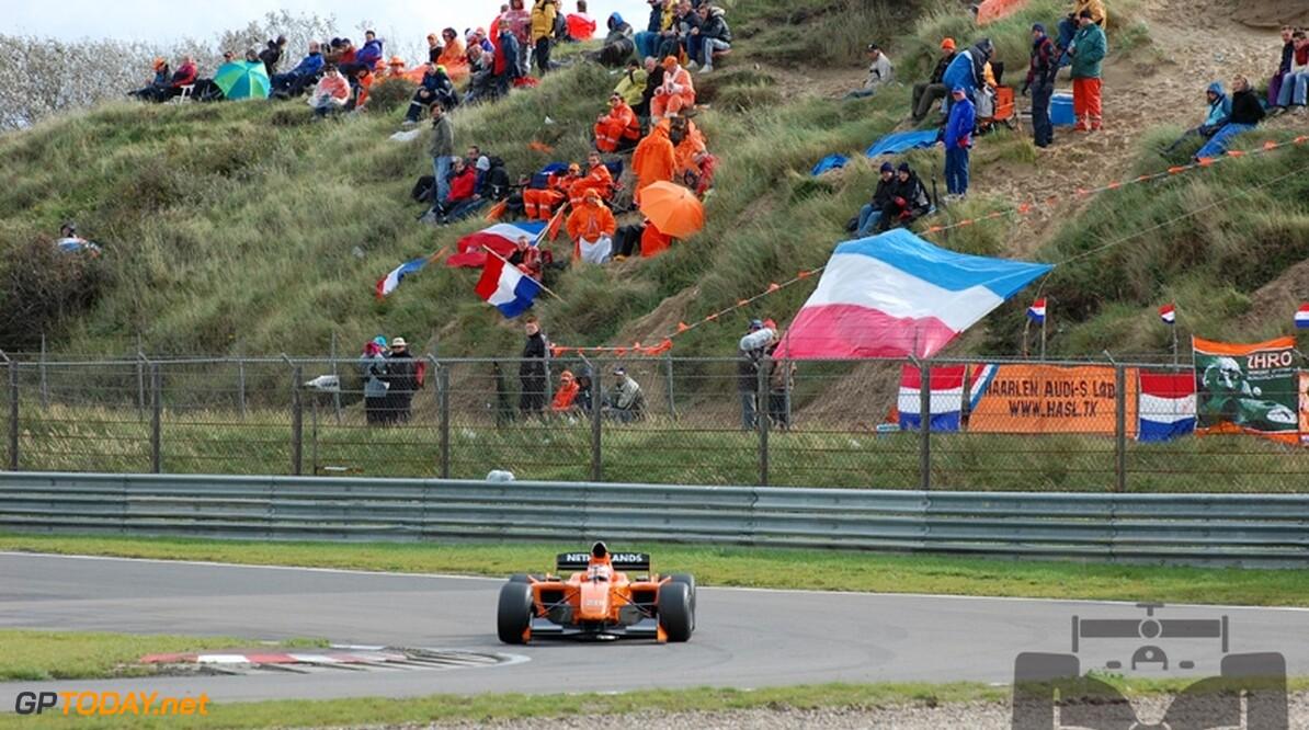 'Oranje tribunes bij Nederlandse Grand Prix prachtige reclame voor Formule 1'