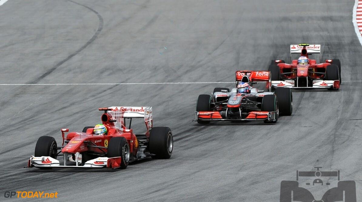 Massa vreest lang recht stuk Shanghai vanwege F-duct bij McLaren
