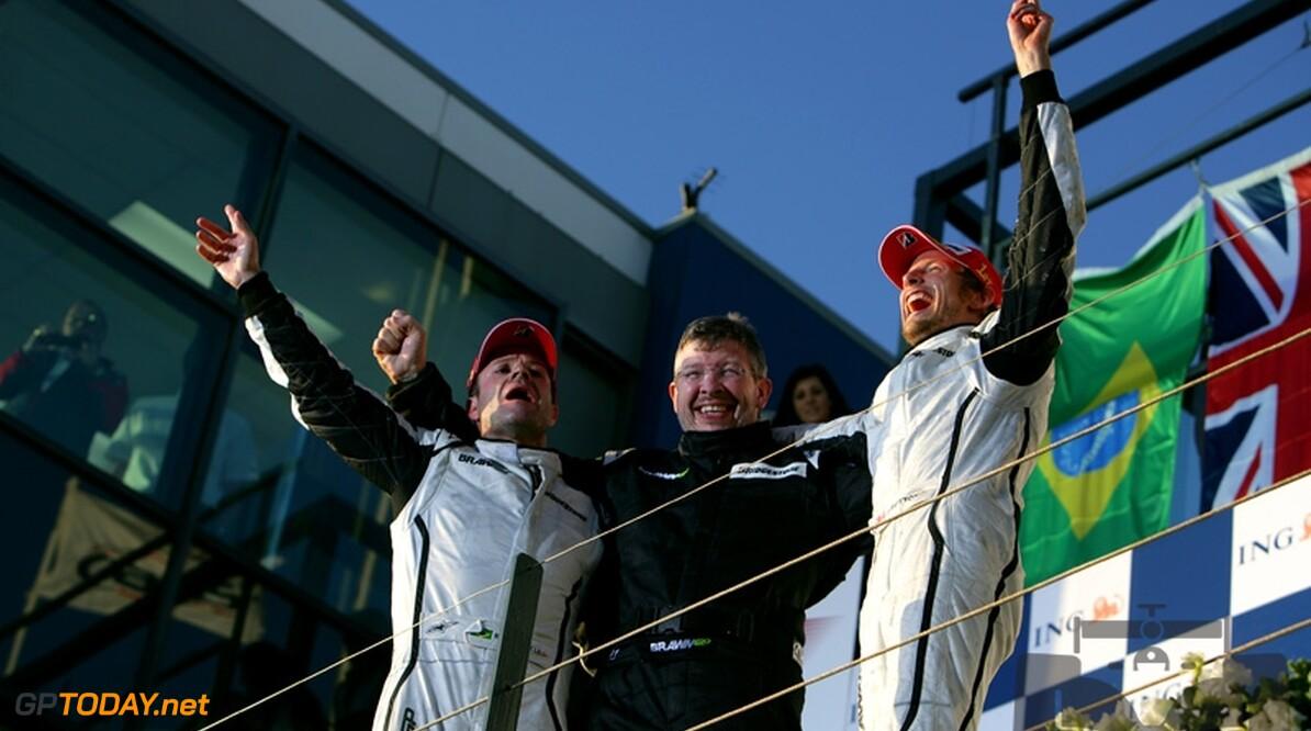 Brawn op zijn hoede voor spanningen tussen Button en Barrichello