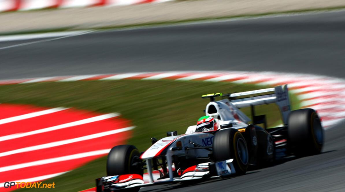 Sergio Perez bejubelt zijn eerste punten in de Formule 1