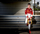 Charles Leclerc does testing for 2017 GP3 cars