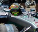 Esteban Gutierrez drives the W07 at Sonoma Raceway