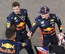 Nieuwe overalls en sponsor voor Red Bull, nieuwe cap en helm voor Verstappen