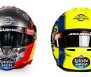Sainz and Norris present their 2020 helmets